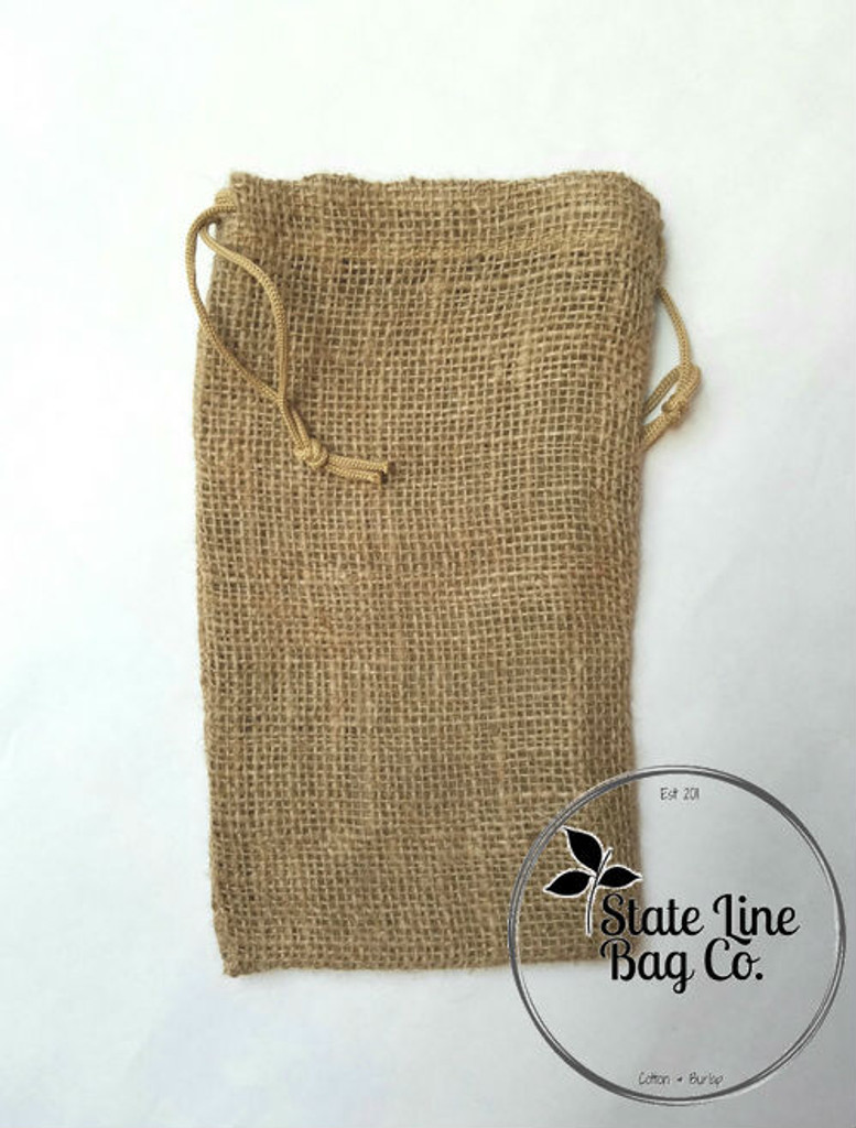 "6"" x 10"" Burlap Bag Double-Drawstring"
