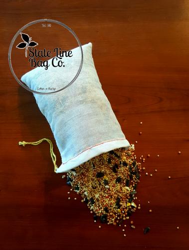 "4"" x 6"" Economy Single - Drawstring Cotton Muslin Bags - 100 Count"