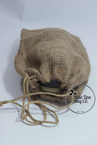 "8"" x 12"" Burlap Bag Double-Drawstring Great For Travel."