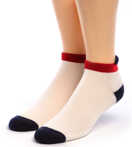 All American Alpaca Sports Socks - Anklet Roll Tab Front