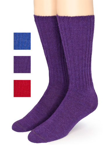 Ribbed Casual Alpaca Socks Thumbnail with color selection