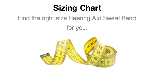 View the Hearing Aid Sweat Band SIZING CHART