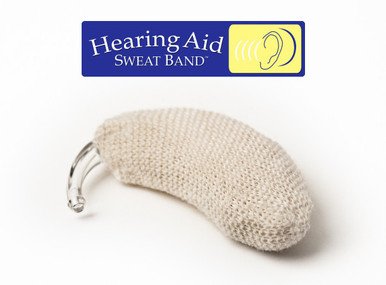 The ORIGINAL Hearing Aid Sweat Band :: Proudly Made in the USA :: Fits Any Behind-the-Ear Hearing Aid Device