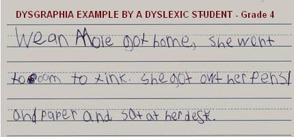 DYSGRAPHIA & DYSLEXICS