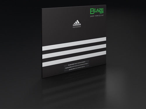 Rubber Sheet for Combo Blade - adidas BlazeSpin Short-Pips Rubber (Only with 1 Combo Blade)