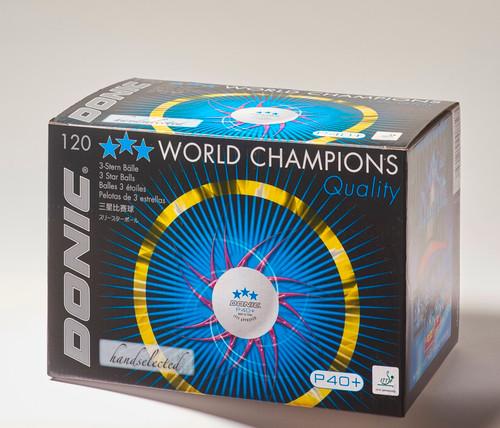 Balls Donic P 40+ Poly 3* White (120)