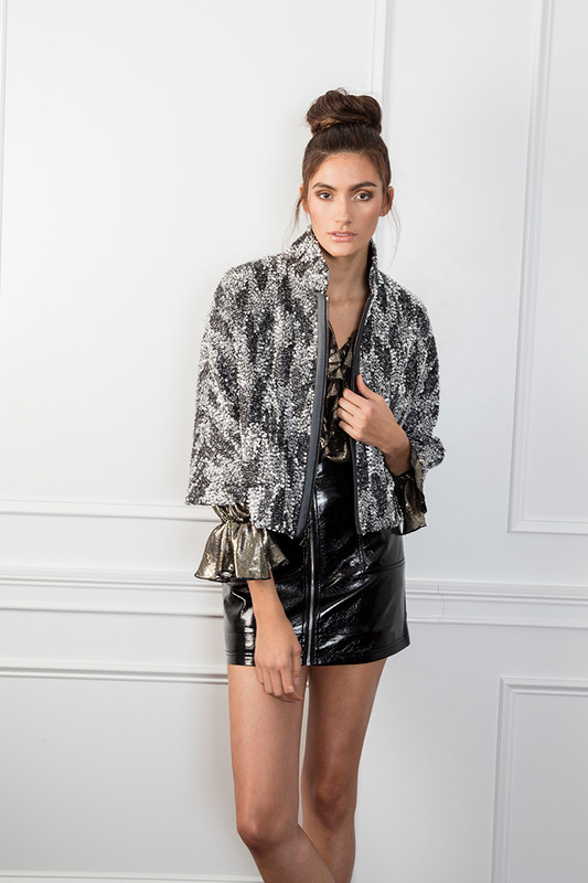 The Madison Jacket in Silver
