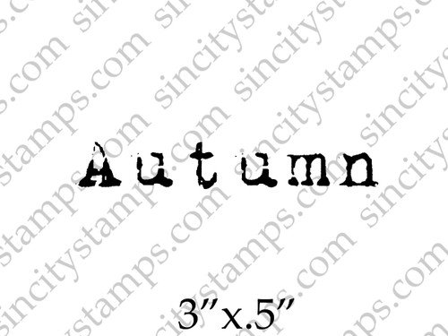 Autumn Word Rubber Stamp