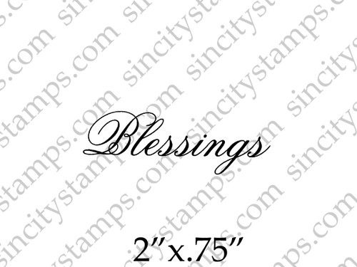 Blessings Word Art Rubber Stamp by Pam Bray Designs