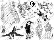 The Wizard of Oz III Art Rubber Stamp Sheet Set SC66