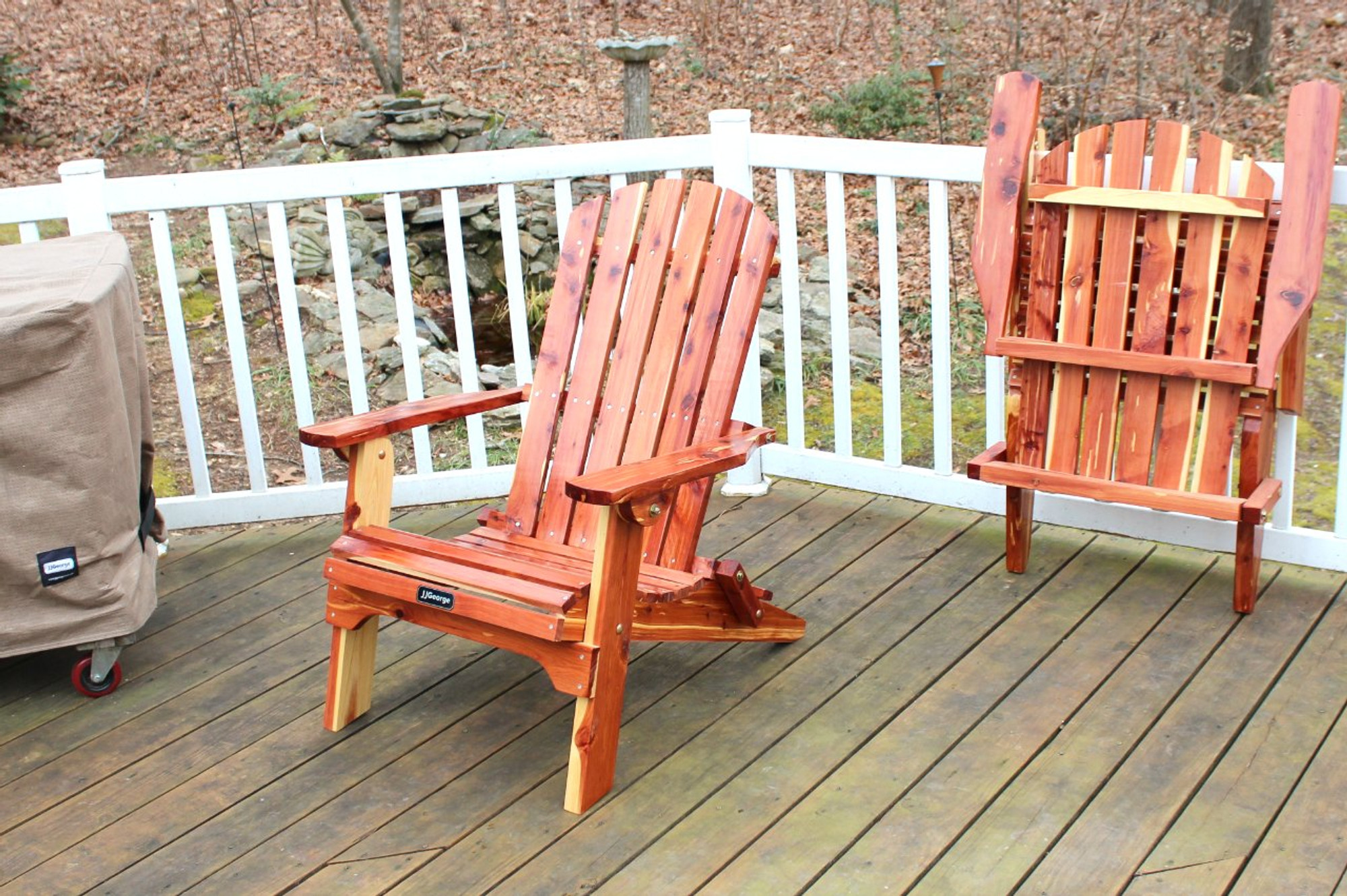 JJGeorge Folding Adirondack Chairs Adirondack Chair