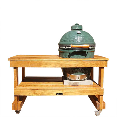 Long Table For Large Big Green Egg (Sassafras Lumber)