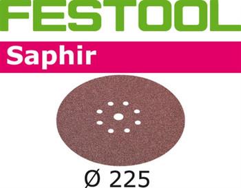 Festool Saphir   225 Round Planex   24 Grit   Pack of 25 (495174)