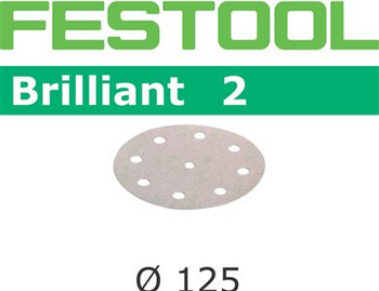 Festool Brilliant 2 | 125 Round | 60 Grit | Pack of 10 (495990)