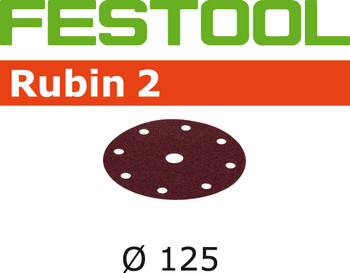 Festool Rubin 2 | 125 Round | 180 Grit | Pack of 10 (499107)