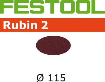 Festool Rubin 2   115 Round   150 Grit   Pack of 50 (499090)