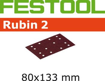Festool Rubin 2 | 80 x 133 | 80 Grit | Pack of 10 (499056)