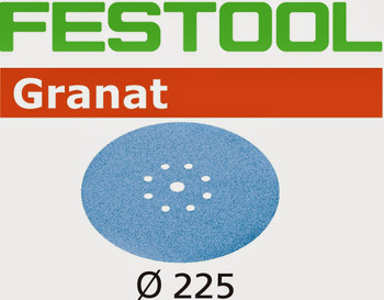 Festool Granat   225 Round Planex   40 Grit   Pack of 25 (499634)