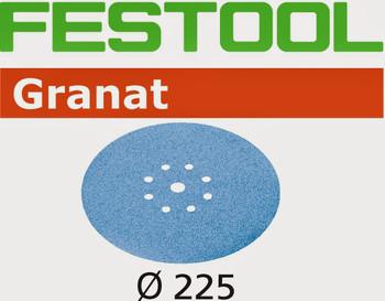 Festool Granat   225 Round Planex   80 Grit   Pack of 25 (499636)