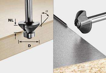 Festool Chamfer Cutter - 30 degree D25mm (499800)