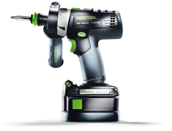 Festool Cordless Hammerdrill QUADRIVE PDC 18/4 (SET) (564597)