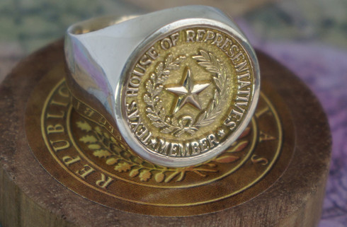 Shown Is The Sterling Silver And 14t Gold Ring. This Is Available In An All