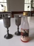 Vintage - Tin snaps glass, Scandia Tenn Karlshamn