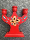 Vintage - Candle Holder red