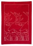 Anna Viktoria - Reindeer Tea Towel, Red