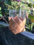 Vintage - Birch Bark Glass, small
