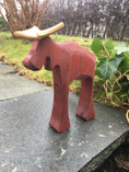 Vintage -  Handmade Moose Red