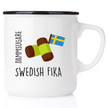 Happy - Swedish Fika Mug with Flag