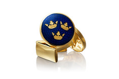 Skultuna Three Crowns Cuffllinks Blue