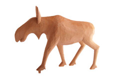 Gunnar Johnson - Hand Carved Moose Cow