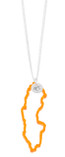 Memories of Sweden - Necklace Air Plexiglass Cloudberry