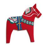 Pufz - Dala Horse Trivet Red