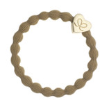 byEloise - Camel Hair Tie with Gold Heart