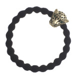 byEloise - Black Hair Tie with Jaguar Charm