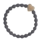 byEloise - Storm Grey Hair Band with Bling Heart