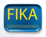 I Love Design - FIKA Tray Blue/Yellow