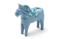 Nils Olsson Hemslöjd Dala Horse Light Blue
