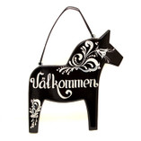 Grannas - Welcome sign Horse Black 20 cm Kurbitz
