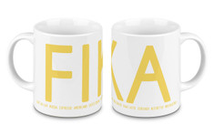 I Love Design - FIKA Mug Yellow