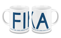 I Love Design - FIKA Mug Blue