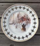 Vintage - Carl Larsson Porcelain Plate, Gården och Brygghuset