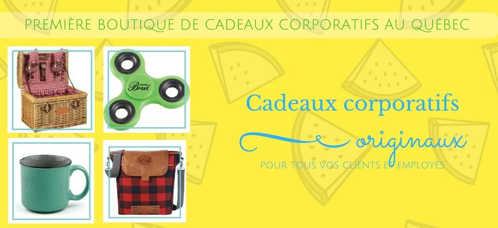 Première boutique de cadeaux corporatifs au Québec