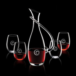 Carafe Uxbridge avec 4 Verres en Cristallin#1187