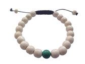 Yak bone Wrist mala with Tibetan Turquoise Spacer