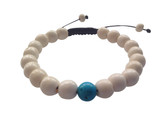 Yak bone Wrist mala with Turquoise Spacer