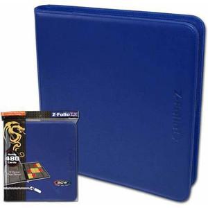 BCW- Z- Folio LX- 12 Pocket Binder- Blue